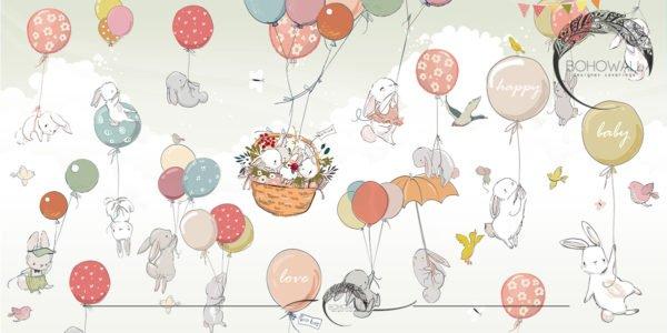 Happy Basket_green_Bohowall