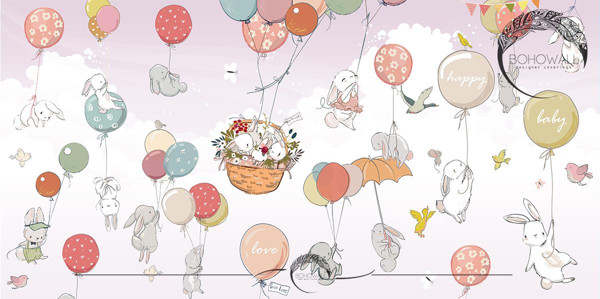 Happy Basket_violet_Bohowall