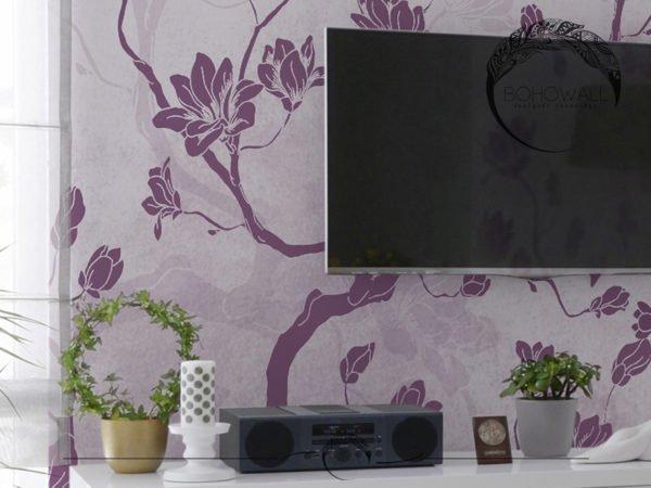 Фрагмент интерьера с фреской на стене