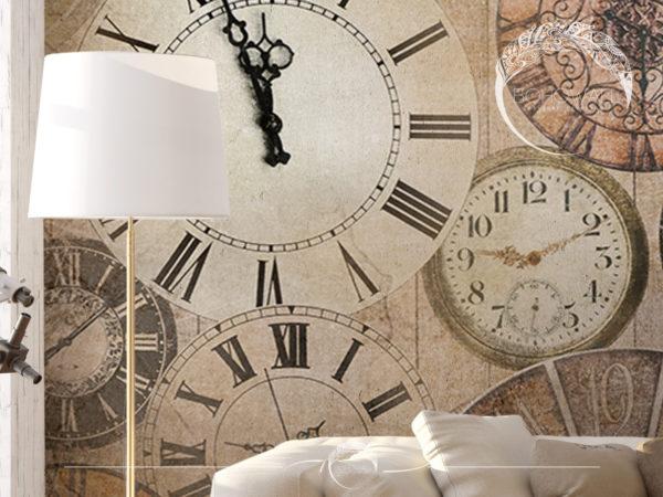 Фреска на стене в интерьере Magic Time_Bohowall