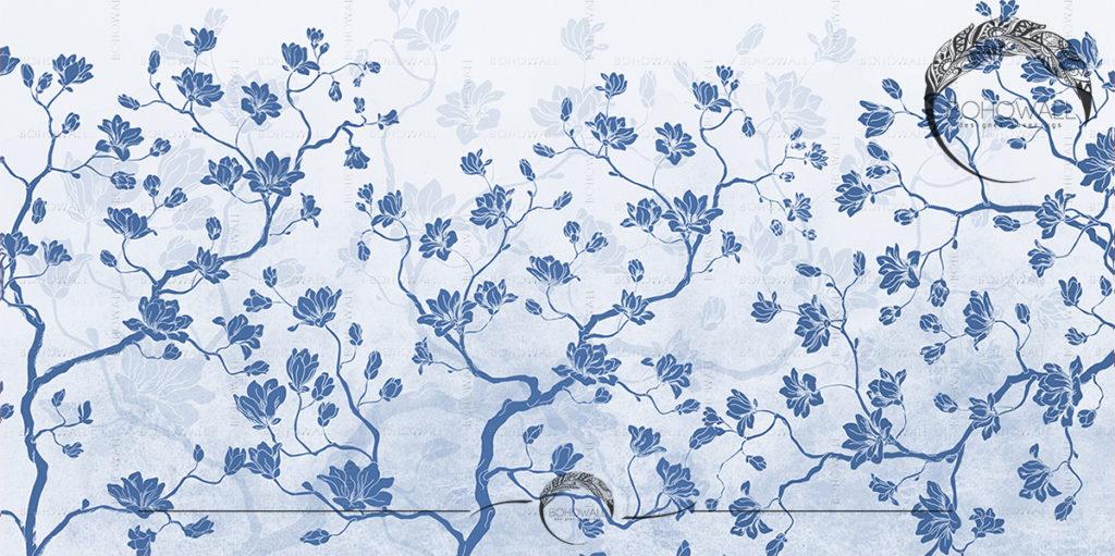 Дизайнерские обои Magnolia field blue