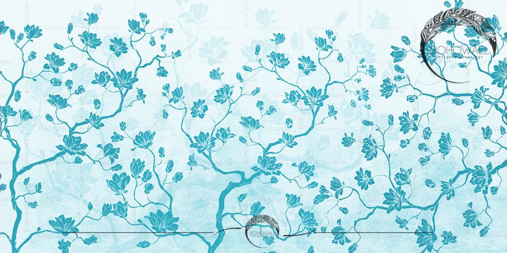 Magnolia field aquamarine