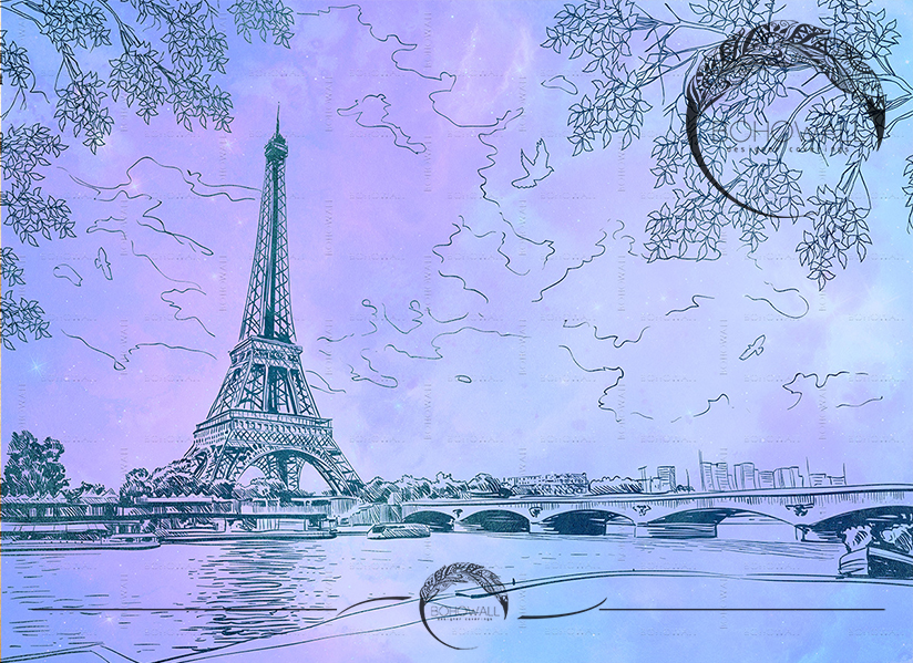 Romantic Paris_ultraviolet_Bohowall