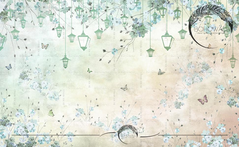 oboi_lantern _bohowall_mint