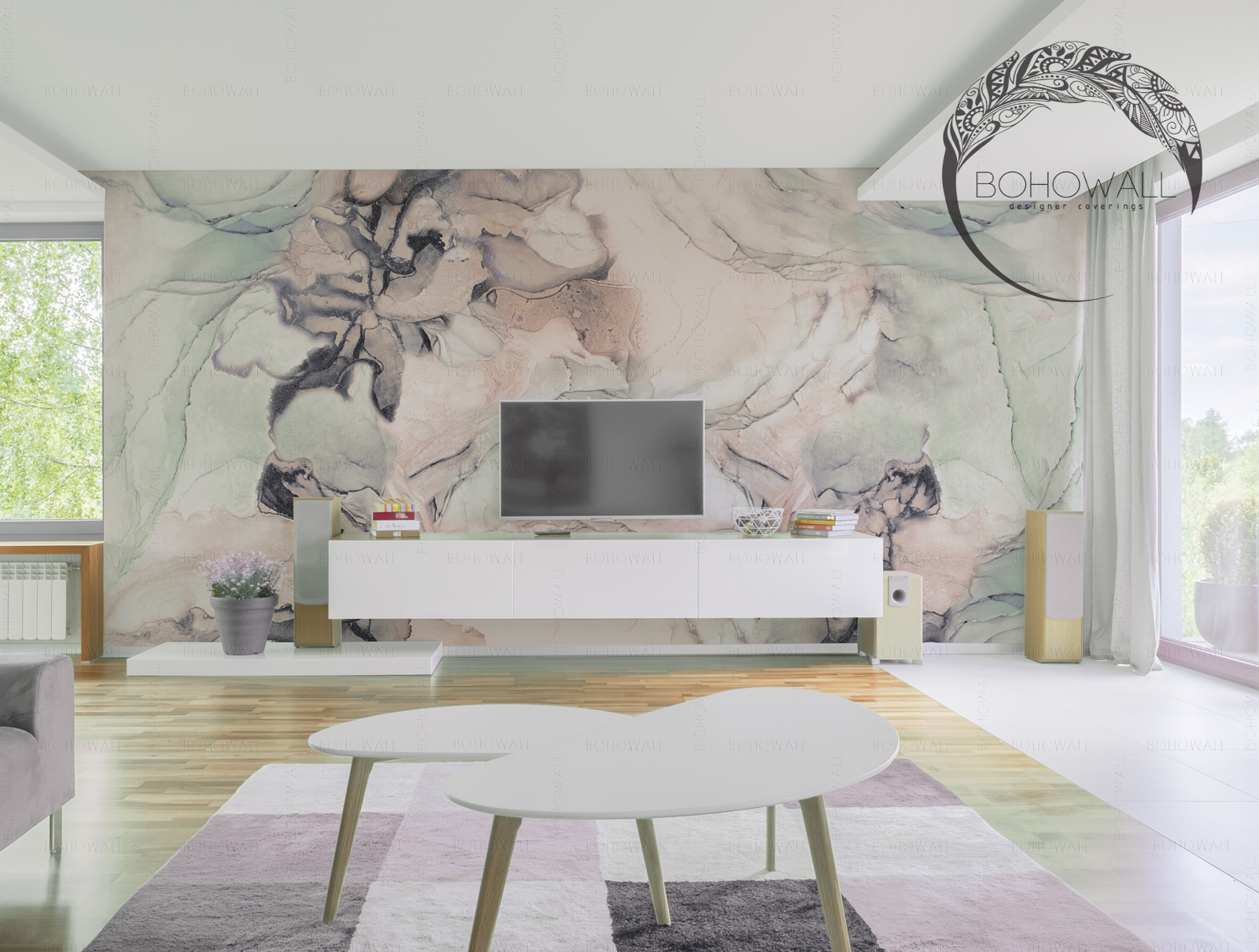 interier_freska_fancy marble_Bohowall_s