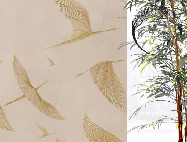 wallpaper_at sunrise_gold_nude_Bohowall_fr