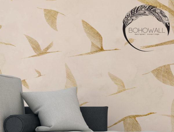 wallpaper_at sunrise_gold_nude_Bohowall_fr2