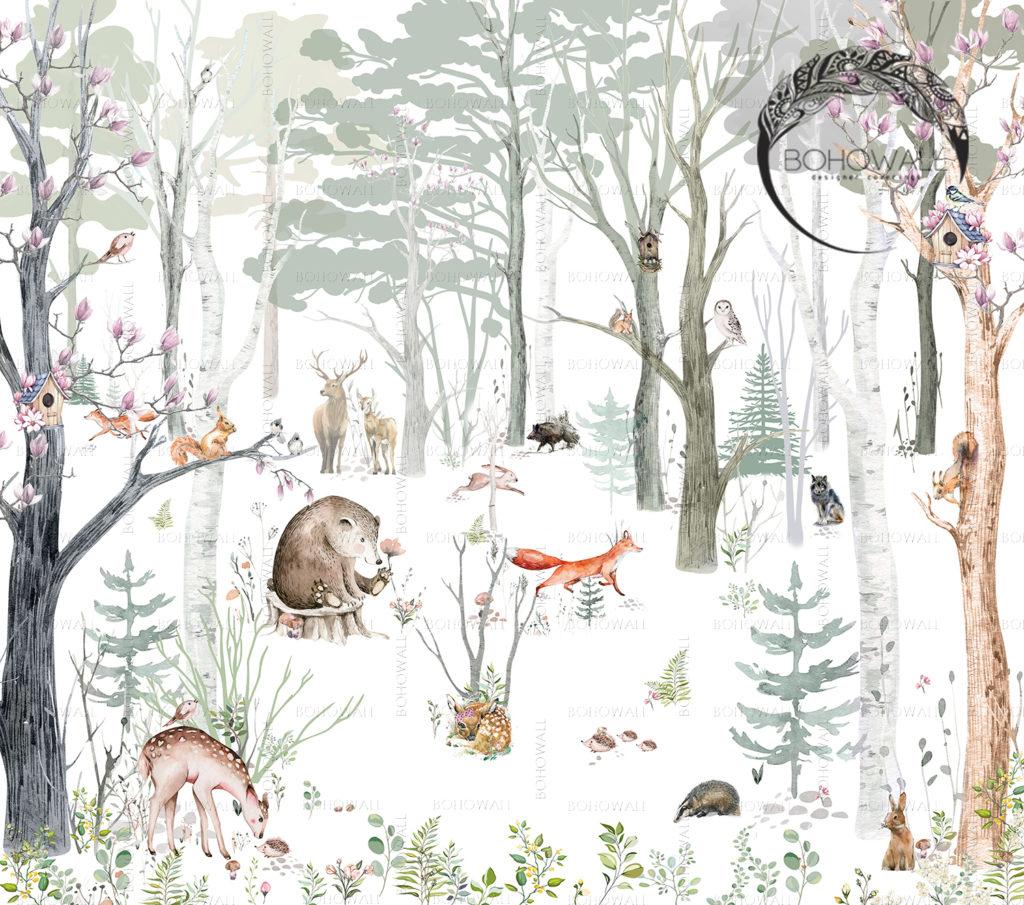 freska_fox_in_the forest_Bohowall