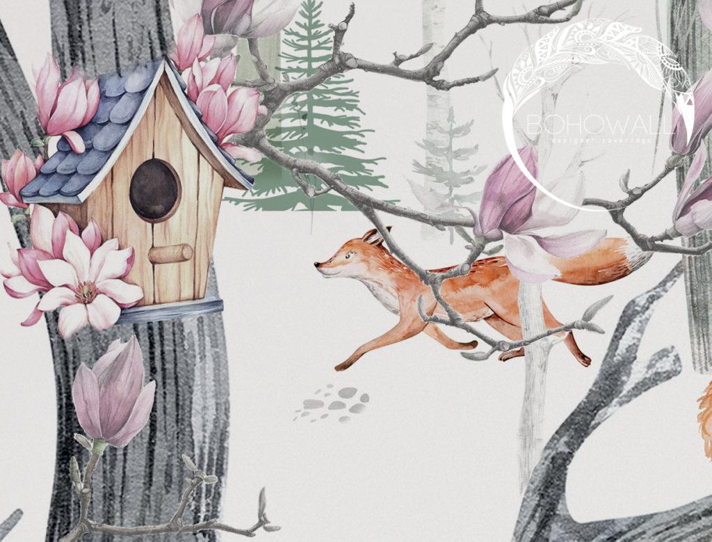 freska_fox_in_the forest_Bohowall_fr2